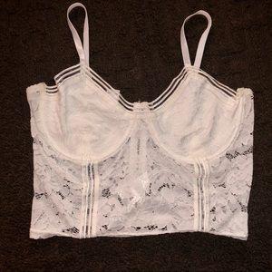 🎈2/20$🎈White mesh crop top